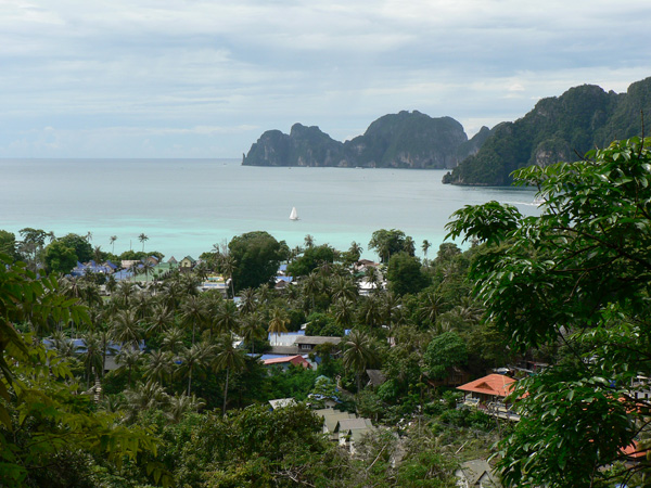 the view of phi phi island